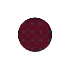 Blue Hot Pink Pattern With Woody Circles Golf Ball Marker by Nexatart