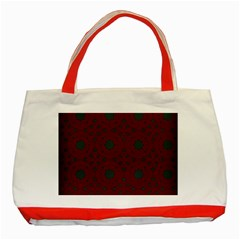 Blue Hot Pink Pattern With Woody Circles Classic Tote Bag (red) by Nexatart
