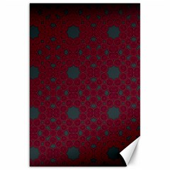Blue Hot Pink Pattern With Woody Circles Canvas 20  X 30   by Nexatart