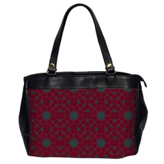 Blue Hot Pink Pattern With Woody Circles Office Handbags (2 Sides)  by Nexatart