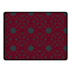 Blue Hot Pink Pattern With Woody Circles Fleece Blanket (small) by Nexatart