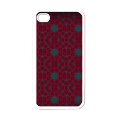 Blue Hot Pink Pattern With Woody Circles Apple Iphone 4 Case (white) by Nexatart