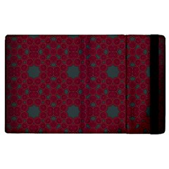 Blue Hot Pink Pattern With Woody Circles Apple Ipad 2 Flip Case by Nexatart