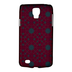 Blue Hot Pink Pattern With Woody Circles Galaxy S4 Active