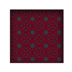 Blue Hot Pink Pattern With Woody Circles Small Satin Scarf (square) by Nexatart