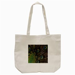Close Up Of Peacock Feathers Tote Bag (cream) by Nexatart