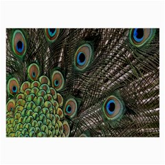 Close Up Of Peacock Feathers Large Glasses Cloth (2 Side) by Nexatart