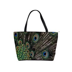 Close Up Of Peacock Feathers Shoulder Handbags by Nexatart