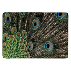 Close Up Of Peacock Feathers Samsung Galaxy Tab 8 9  P7300 Flip Case by Nexatart