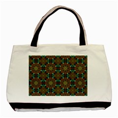 Seamless Abstract Peacock Feathers Abstract Pattern Basic Tote Bag (two Sides) by Nexatart