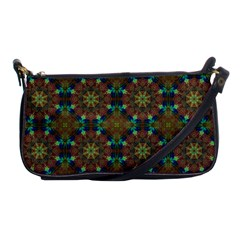 Seamless Abstract Peacock Feathers Abstract Pattern Shoulder Clutch Bags by Nexatart
