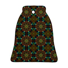 Seamless Abstract Peacock Feathers Abstract Pattern Bell Ornament (two Sides) by Nexatart