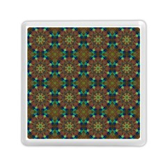Seamless Abstract Peacock Feathers Abstract Pattern Memory Card Reader (square)  by Nexatart