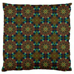 Seamless Abstract Peacock Feathers Abstract Pattern Large Flano Cushion Case (two Sides) by Nexatart