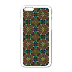 Seamless Abstract Peacock Feathers Abstract Pattern Apple Iphone 6/6s White Enamel Case by Nexatart