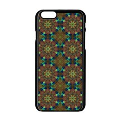 Seamless Abstract Peacock Feathers Abstract Pattern Apple Iphone 6/6s Black Enamel Case by Nexatart