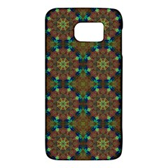 Seamless Abstract Peacock Feathers Abstract Pattern Galaxy S6 by Nexatart