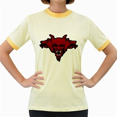 Dracula Women s Fitted Ringer T Shirts by Valentinaart