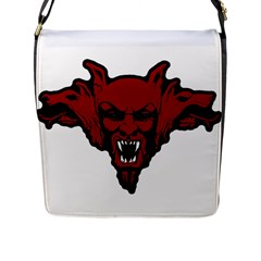 Dracula Flap Messenger Bag (l)  by Valentinaart