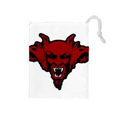 Dracula Drawstring Pouches (medium)  by Valentinaart