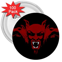 Dracula 3  Buttons (100 Pack)  by Valentinaart