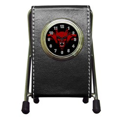 Dracula Pen Holder Desk Clocks by Valentinaart