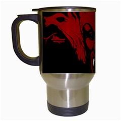 Dracula Travel Mugs (white) by Valentinaart