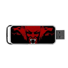 Dracula Portable Usb Flash (one Side) by Valentinaart