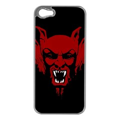 Dracula Apple Iphone 5 Case (silver) by Valentinaart