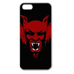 Dracula Apple Seamless Iphone 5 Case (clear) by Valentinaart