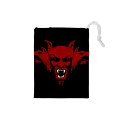Dracula Drawstring Pouches (small)  by Valentinaart