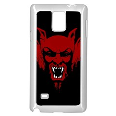 Dracula Samsung Galaxy Note 4 Case (white) by Valentinaart