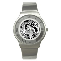 Vampire  Stainless Steel Watch by Valentinaart