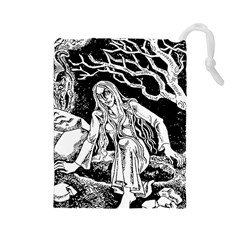 Vampire  Drawstring Pouches (large)  by Valentinaart