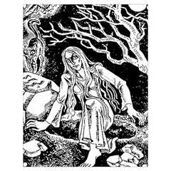 Vampire  Drawstring Bag (large) by Valentinaart