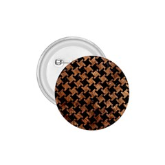 Houndstooth2 Black Marble & Brown Stone 1 75  Button by trendistuff