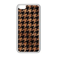 Houndstooth1 Black Marble & Brown Stone Apple Iphone 5c Seamless Case (white) by trendistuff