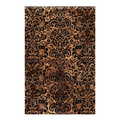 Damask2 Black Marble & Brown Stone (r) Shower Curtain 48  X 72  (small) by trendistuff