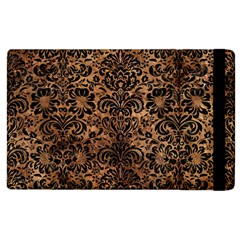 Damask2 Black Marble & Brown Stone (r) Apple Ipad 2 Flip Case by trendistuff