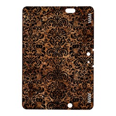 Damask2 Black Marble & Brown Stone (r) Kindle Fire Hdx 8 9  Hardshell Case by trendistuff