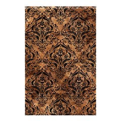 Damask1 Black Marble & Brown Stone (r) Shower Curtain 48  X 72  (small) by trendistuff