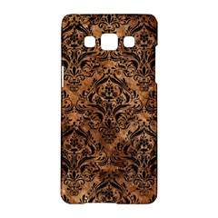 Damask1 Black Marble & Brown Stone (r) Samsung Galaxy A5 Hardshell Case  by trendistuff
