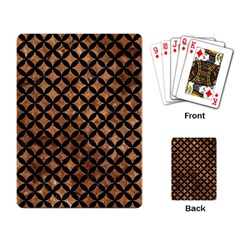 Circles3 Black Marble & Brown Stone (r) Playing Cards Single Design by trendistuff