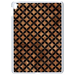 Circles3 Black Marble & Brown Stone (r) Apple Ipad Pro 9 7   White Seamless Case by trendistuff
