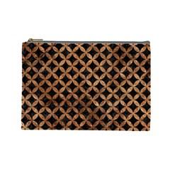 Circles3 Black Marble & Brown Stone Cosmetic Bag (large) by trendistuff