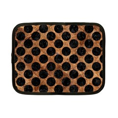 Circles2 Black Marble & Brown Stone (r) Netbook Case (small) by trendistuff
