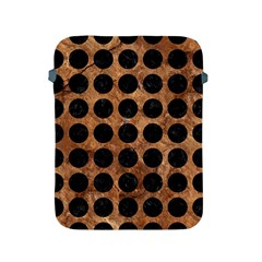 Circles1 Black Marble & Brown Stone (r) Apple Ipad 2/3/4 Protective Soft Case by trendistuff