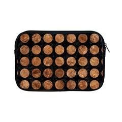 Circles1 Black Marble & Brown Stone Apple Ipad Mini Zipper Case by trendistuff