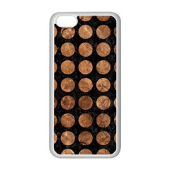 Circles1 Black Marble & Brown Stone Apple Iphone 5c Seamless Case (white) by trendistuff