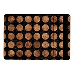 Circles1 Black Marble & Brown Stone Samsung Galaxy Tab Pro 10 1  Flip Case by trendistuff